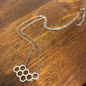 Rose gold honeycomb necklace